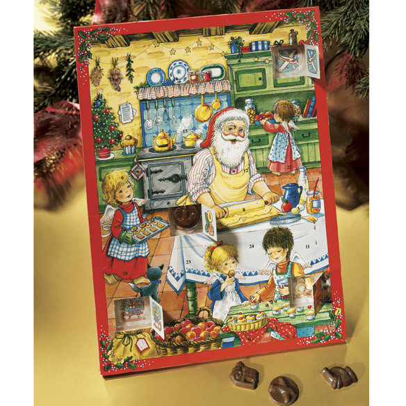 Christmas Countdown Calendar With Candy  Chocolate Advent Calendars