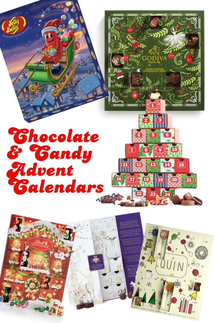 Christmas Countdown Calendar With Candy  2017 Chocolate & Candy Advent Calendars For a Sweet