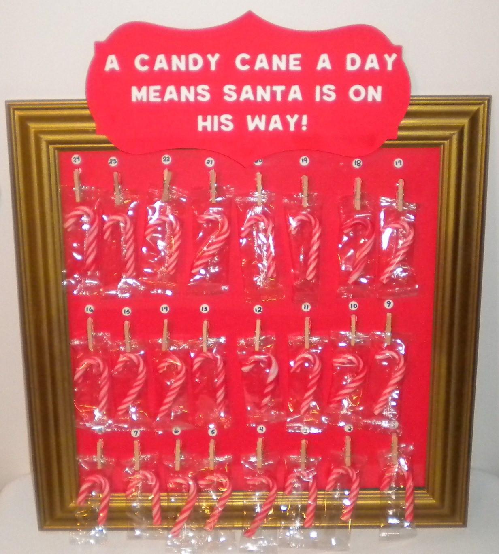 Christmas Countdown Calendar With Candy  Jean s Crafty Corner Candy Cane Advent Calendar