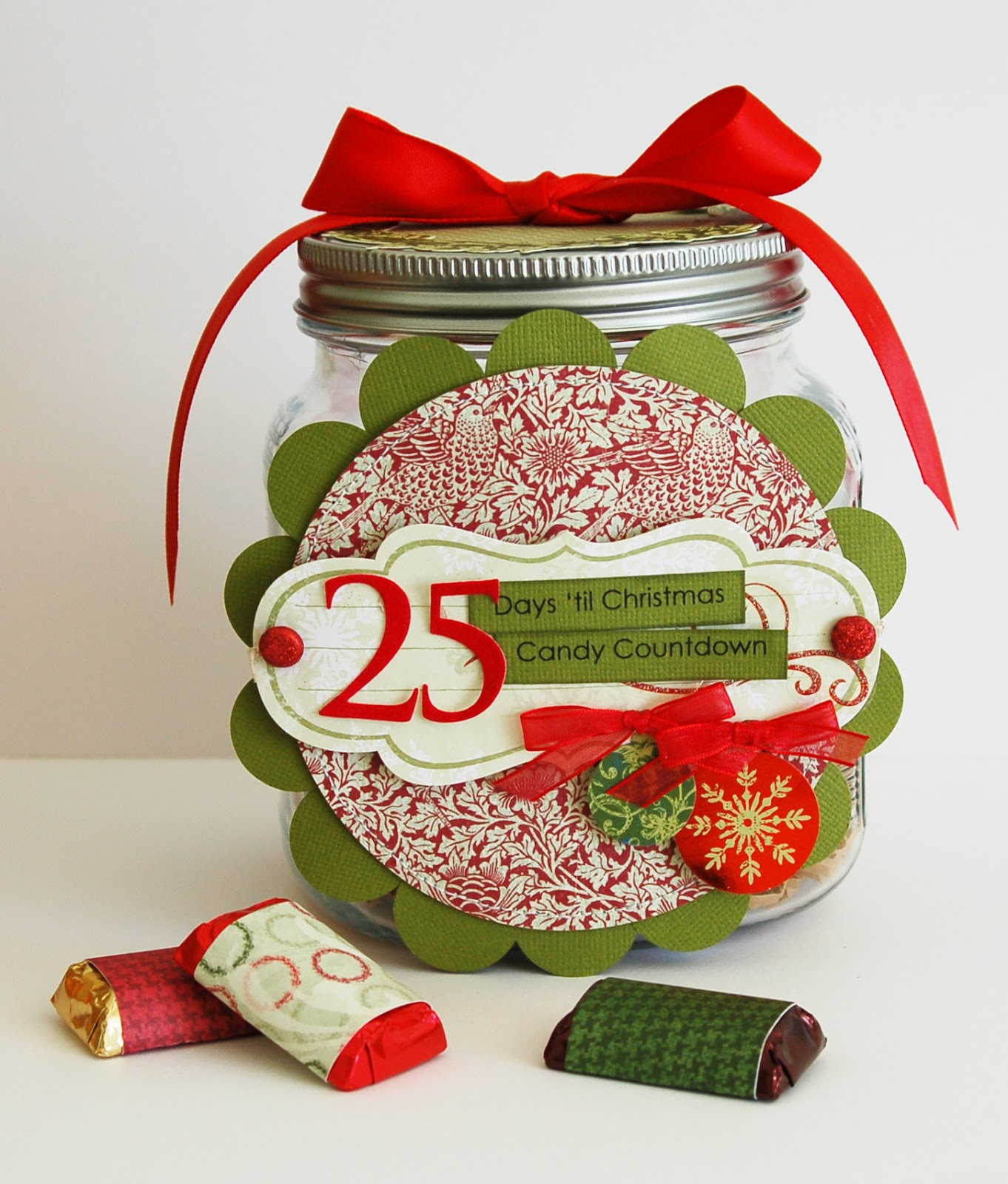 Christmas Countdown Calendar With Candy  Christmas Candy Countdown Calendar