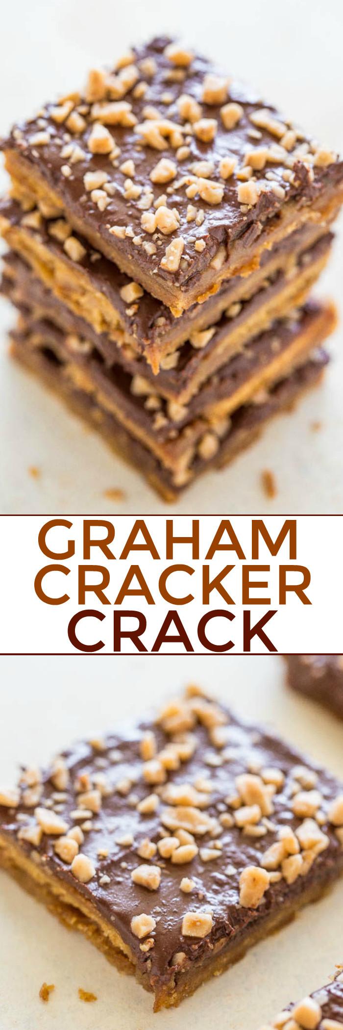 Christmas Crack Graham Crackers  Graham Cracker Toffee aka Graham Cracker Crack Averie