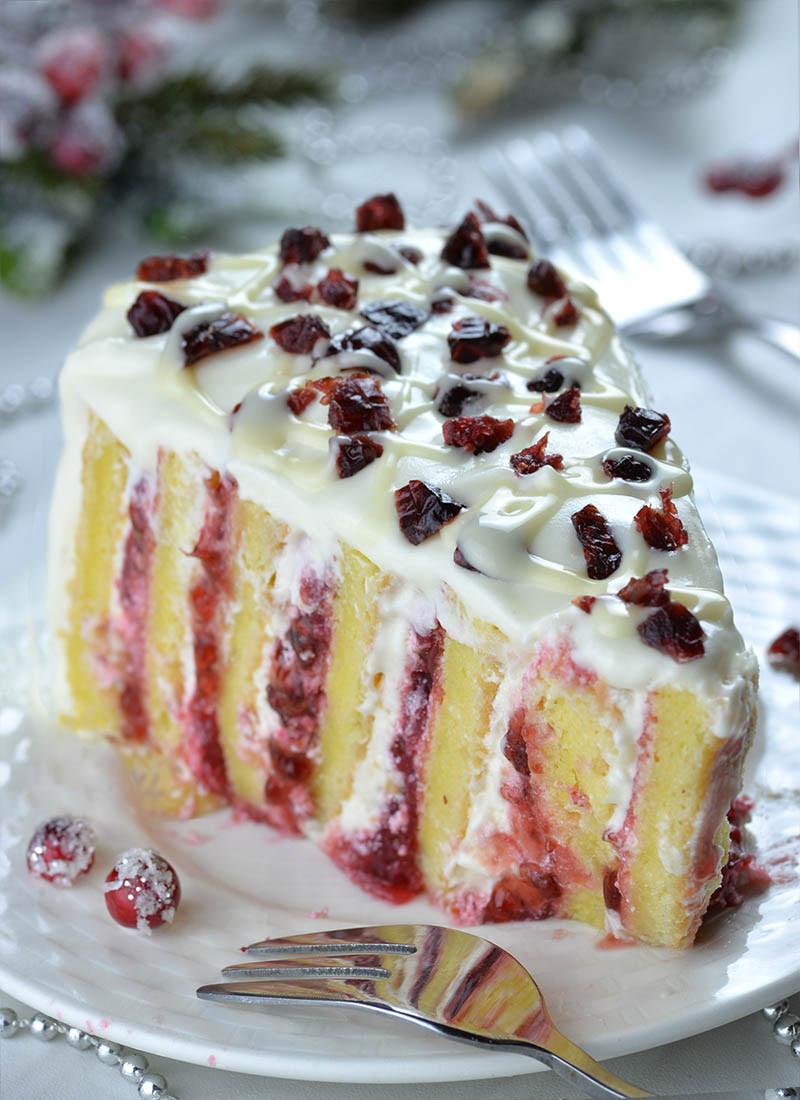 Christmas Cranberry Cake Recipe  Cranberry Christmas Cake OMG Chocolate Desserts