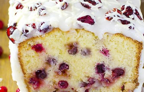 Christmas Cranberry Pound Cake  Cranberry Pound Cake