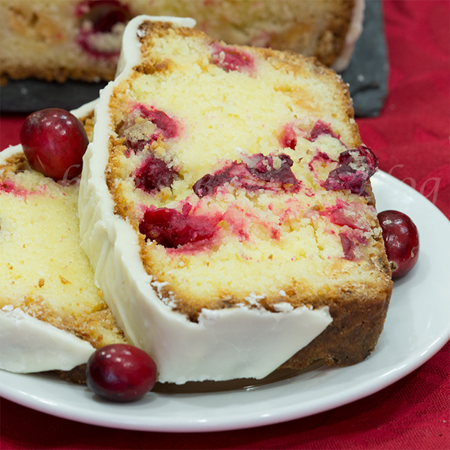 Christmas Cranberry Pound Cake  White Chocolate Cranberry Cake