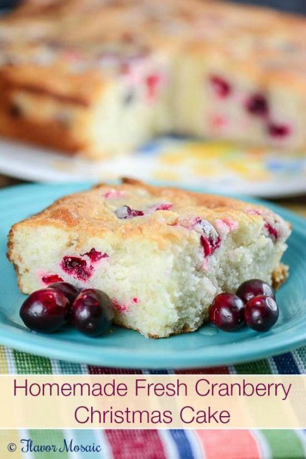 Christmas Cranberry Recipes  Homemade Fresh Cranberry Cake Holiday Inspiration