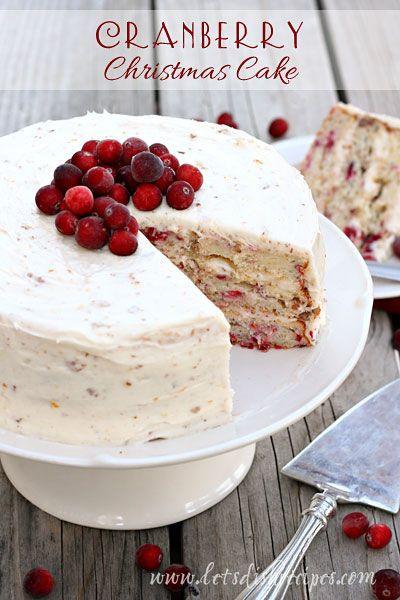Christmas Cranberry Recipes  Cranberry Christmas Cake Recipe