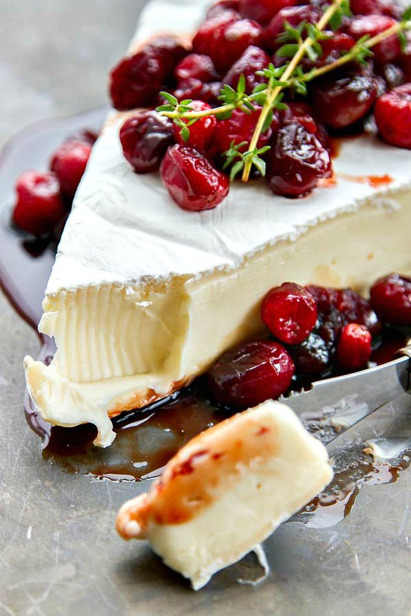 Christmas Cranberry Recipes  Baked Brie with Roasted Balsamic Cranberries Recipe