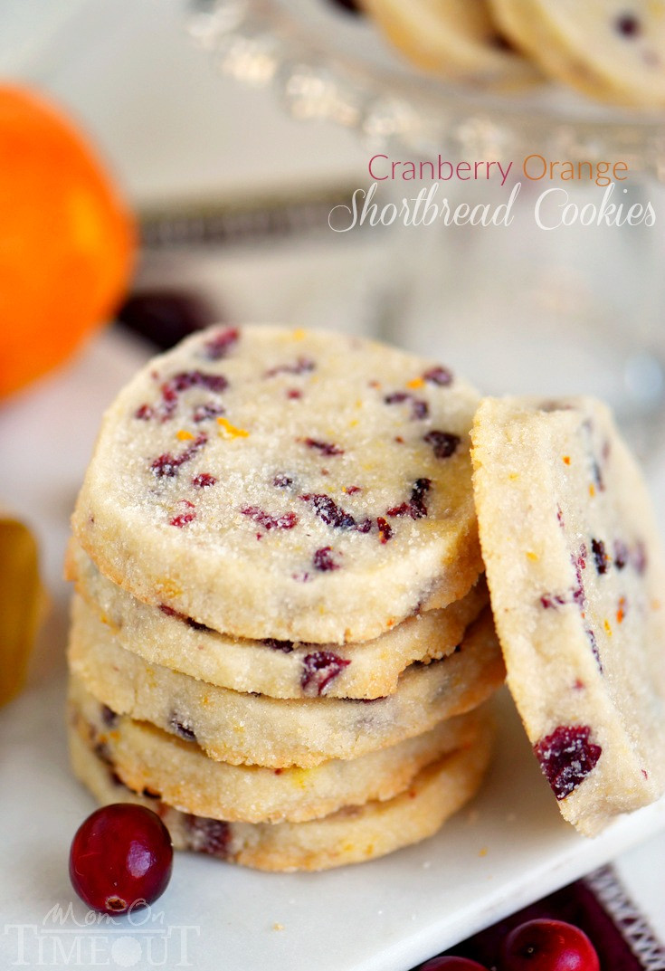 Christmas Cranberry Recipes  Cranberry Orange Shortbread Cookies Mom Timeout