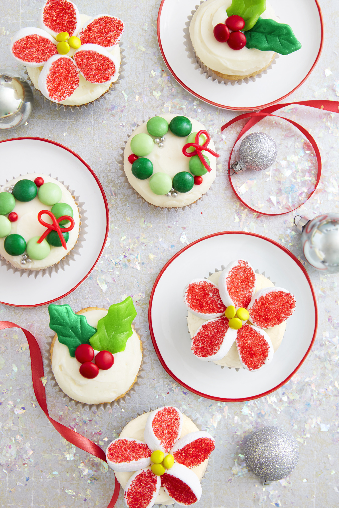 Christmas Dessert Cakes  Holiday Candy Cupcakes Recipe How To Make Christmas