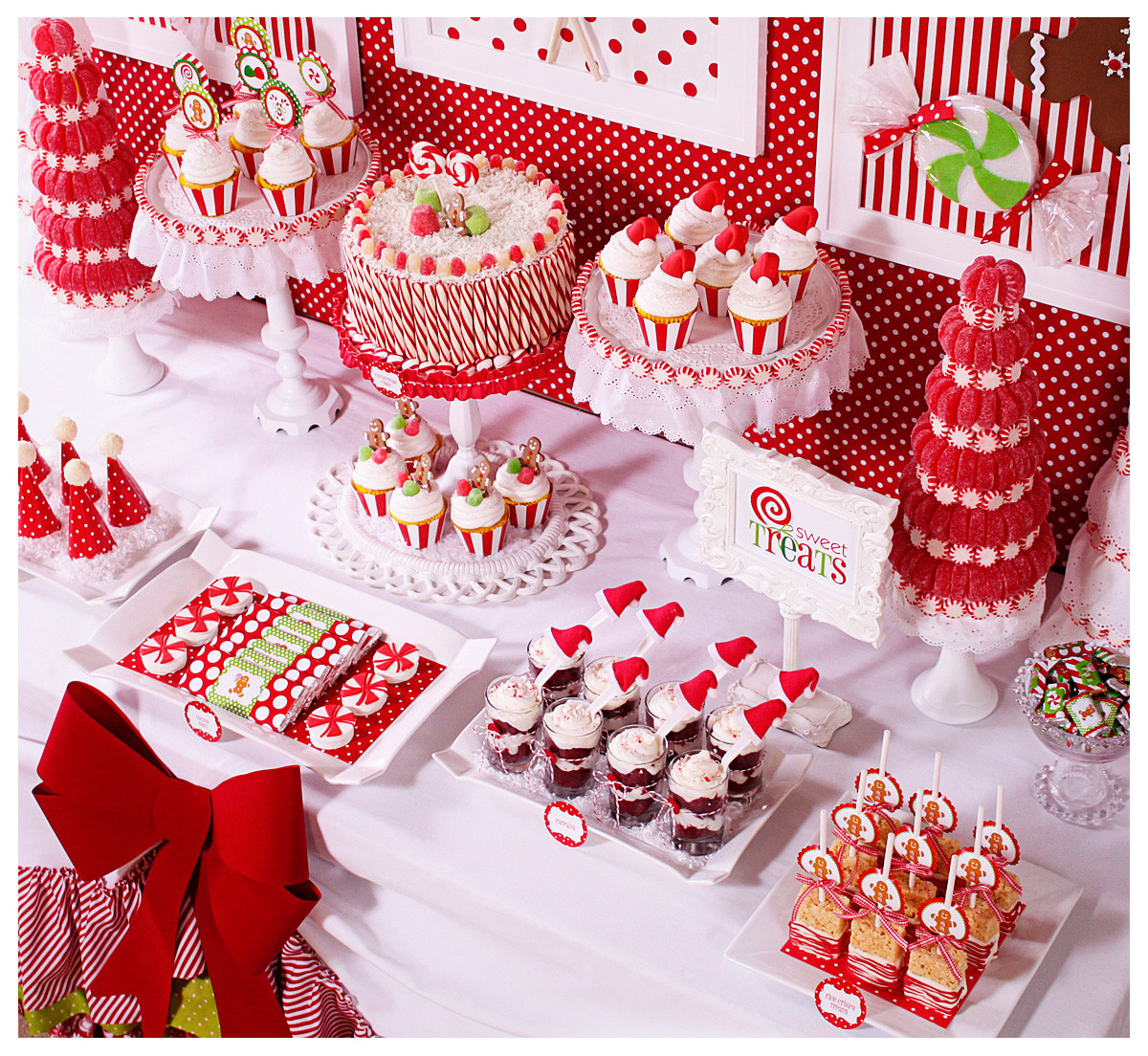 Christmas Dessert Ideas For Parties  Amanda s Parties To Go Candy Christmas Dessert Table