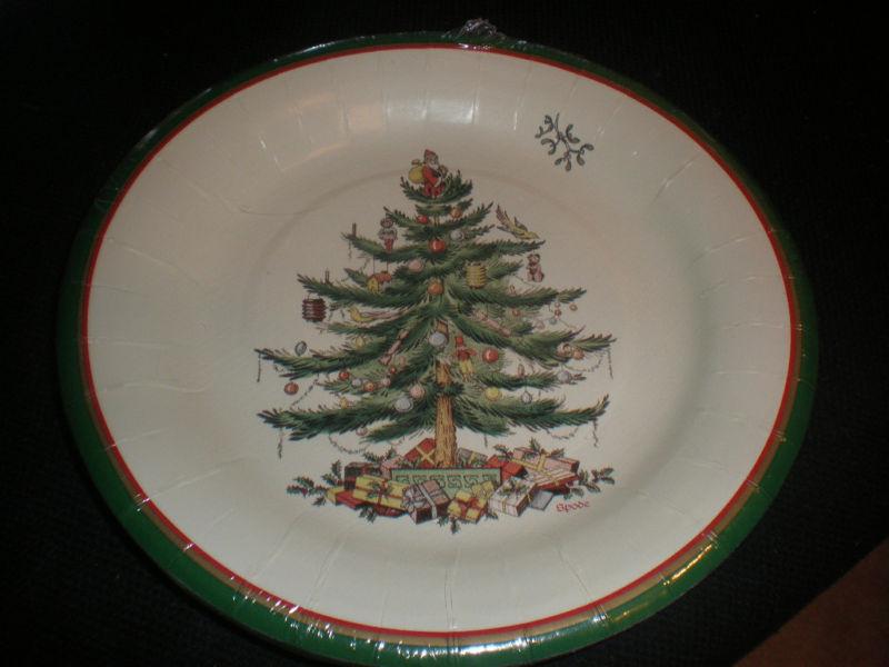 Christmas Dessert Plates  SPODE CHRISTMAS TREE PAPER LUNCHEON DESSERT PLATES