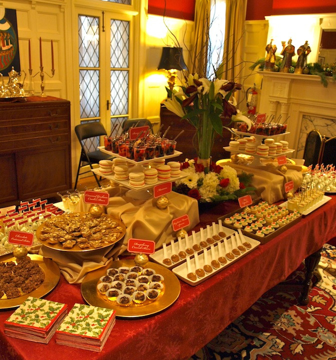 Christmas Dessert Table  a party style xmas in july holiday dessert table