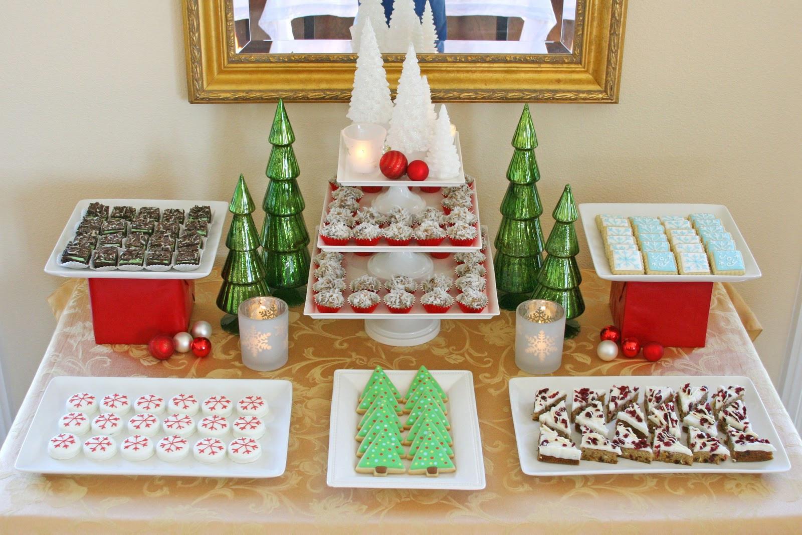 Christmas Dessert Table  Classic Holiday Dessert Table Glorious Treats