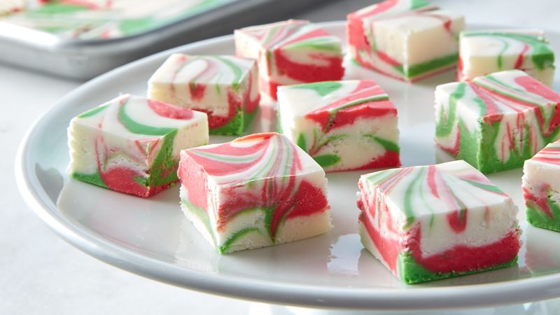 Christmas Desserts Ideas  3 Ingre nt Christmas Swirl Fudge Recipe BettyCrocker
