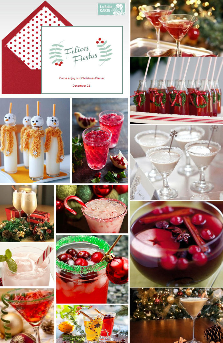 Christmas Dinner Party Ideas  CHRISTMAS DINNER RECIPES DRINKS AND ONLINE INVITATIONS