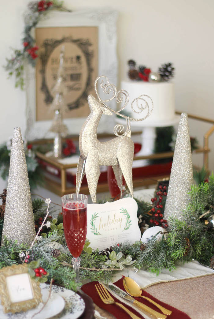 Christmas Dinner Party Ideas  Kara s Party Ideas Holly & Ivy Holiday Dinner Party