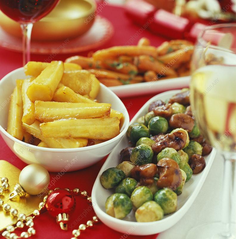 Christmas Dinner Vegetables  Christmas dinner ve ables Stock Image H110 2458