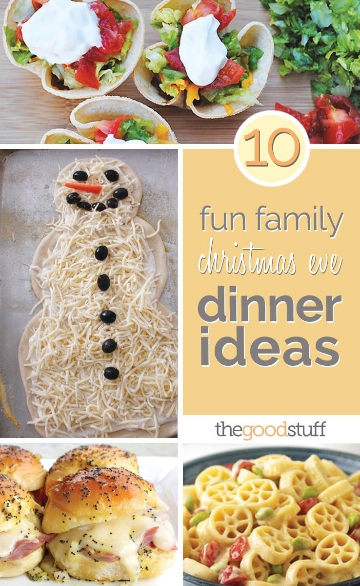 Christmas Dinners For Kids  10 Fun Family Christmas Eve Dinner Ideas thegoodstuff