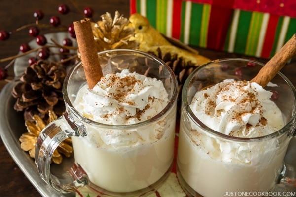 Christmas Eggnog Drinks  Drink Eggnog Hot or Cold • Just e Cookbook