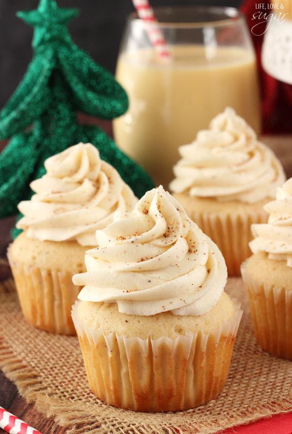Christmas Eggnog Recipe  Eggnog Cupcakes Life Love and Sugar