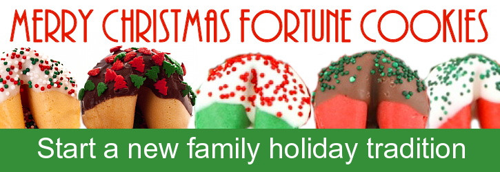 Christmas Fortune Cookies  Fortune Cookie Gifts Holiday Gifts