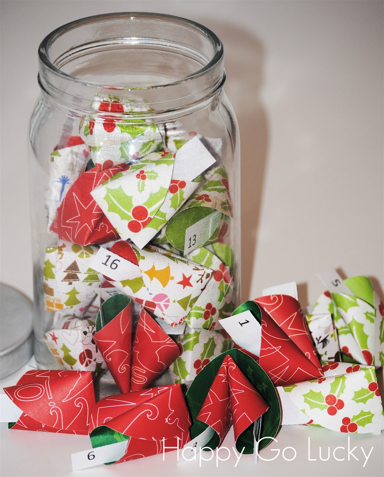 Christmas Fortune Cookies  Christmas Countdown Fortune Cookies Happy Go Lucky