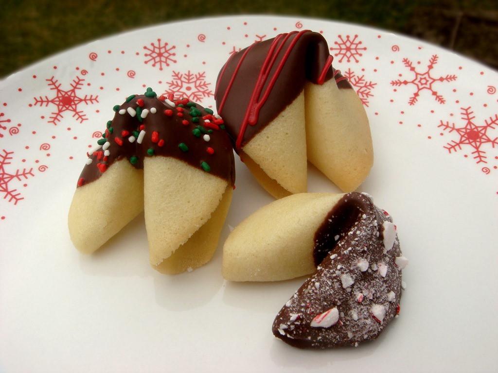 Christmas Fortune Cookies  Twelve Days of Christmas Cookies Christmas Fortune
