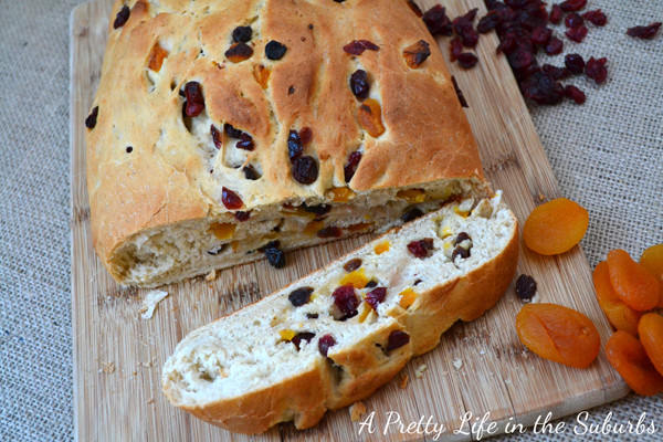 Christmas Fruit Bread  Fruit & Berry Christmas Bread A Pretty Life In The Suburbs