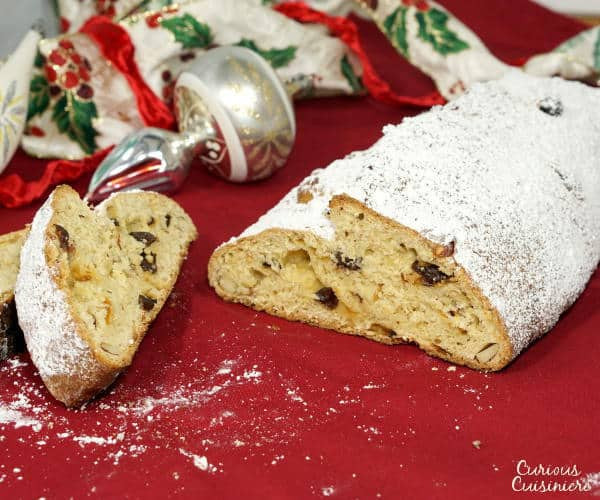 Christmas Fruit Bread  Stollen German Christmas Bread • Curious Cuisiniere