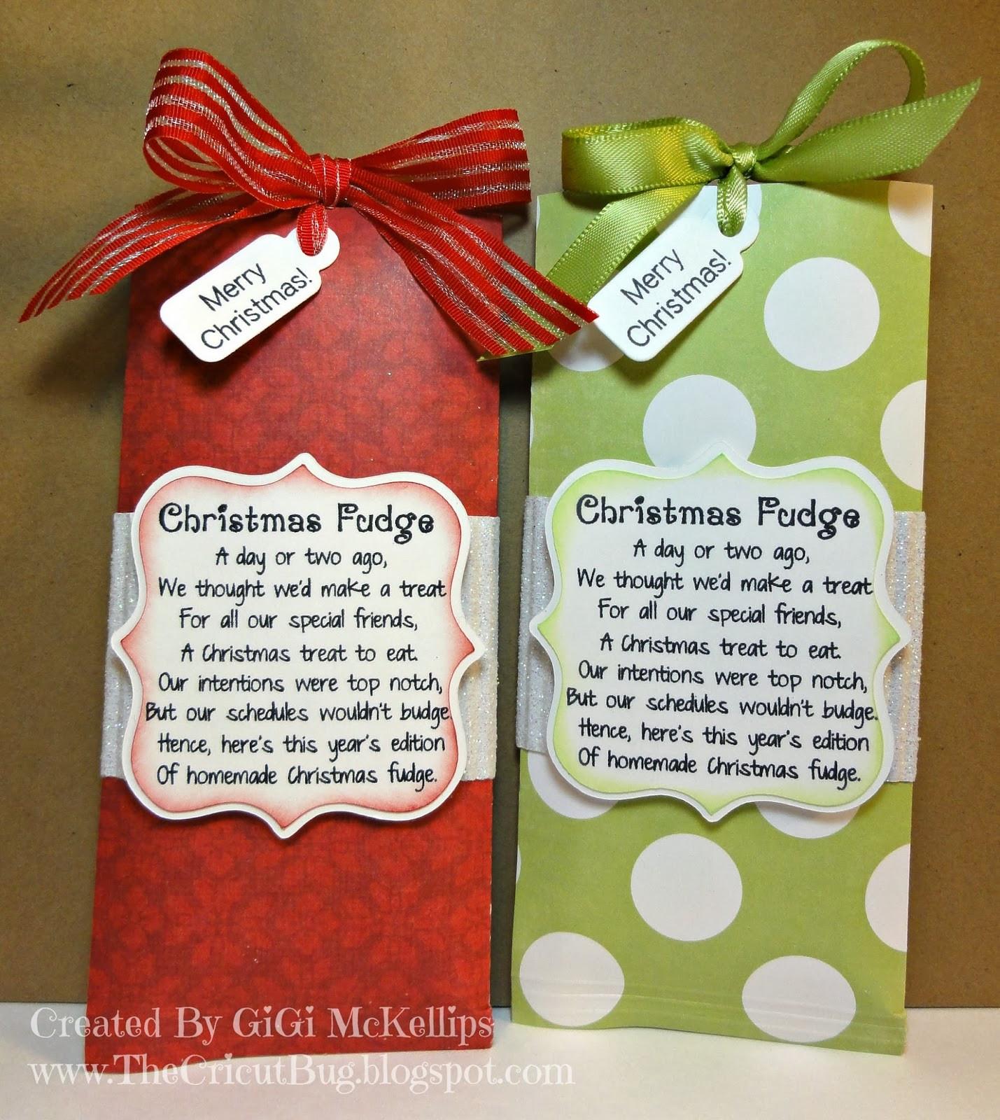 Christmas Fudge Gifts  The Cricut Bug Christmas Fudge