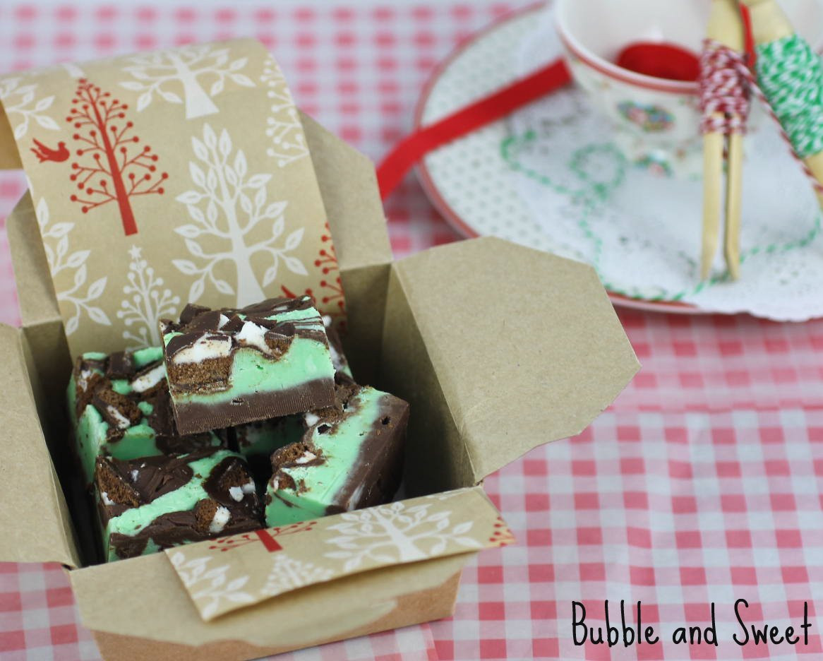 Christmas Fudge Gifts  Bubble and Sweet Peppermint cookie fudge