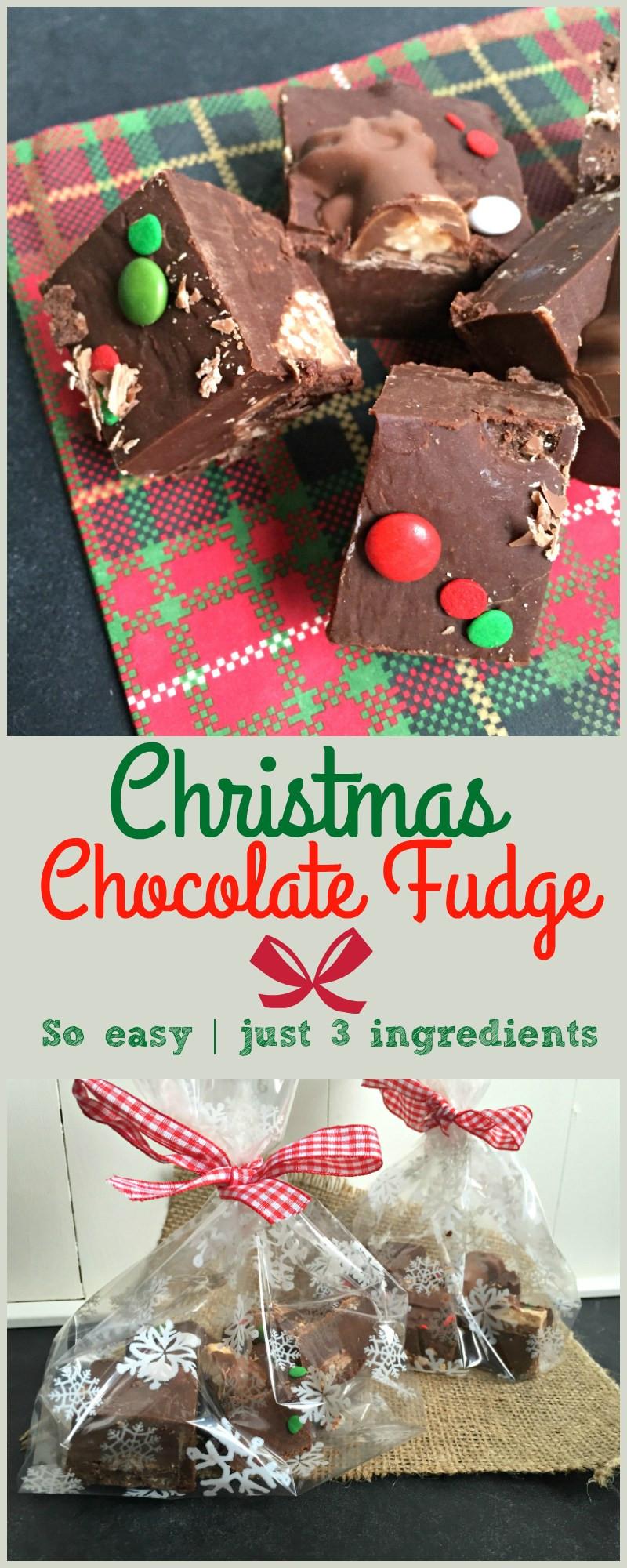 Christmas Fudge Gifts  Easy Malteser Reindeer Chocolate Fudge