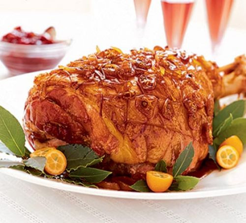 Christmas Ham Recipes  Christmas ham with sticky ginger glaze recipe
