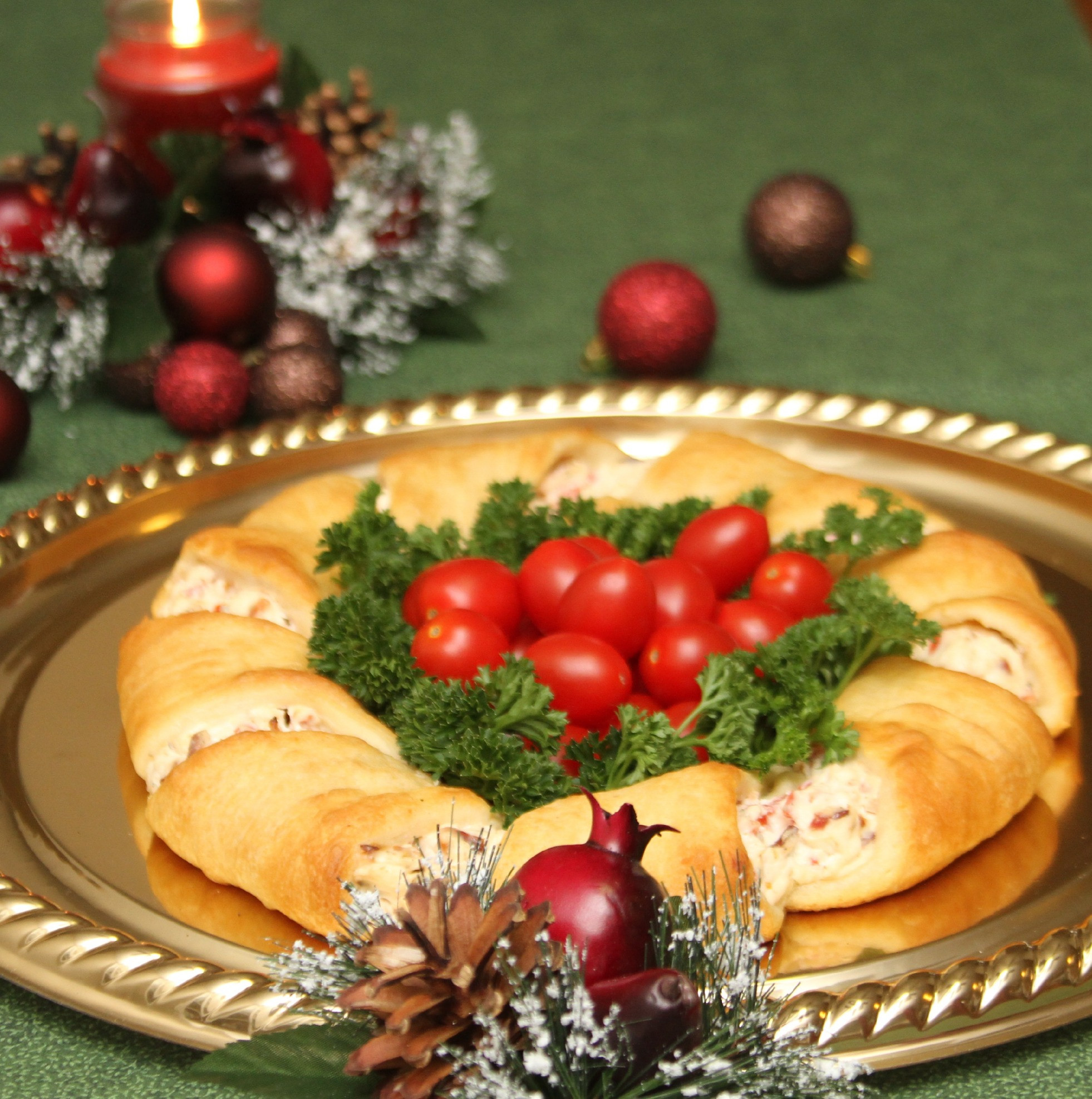 Christmas Holiday Appetizers  Christmas Wreath Crescent Rolls Appetizer Recipes Just