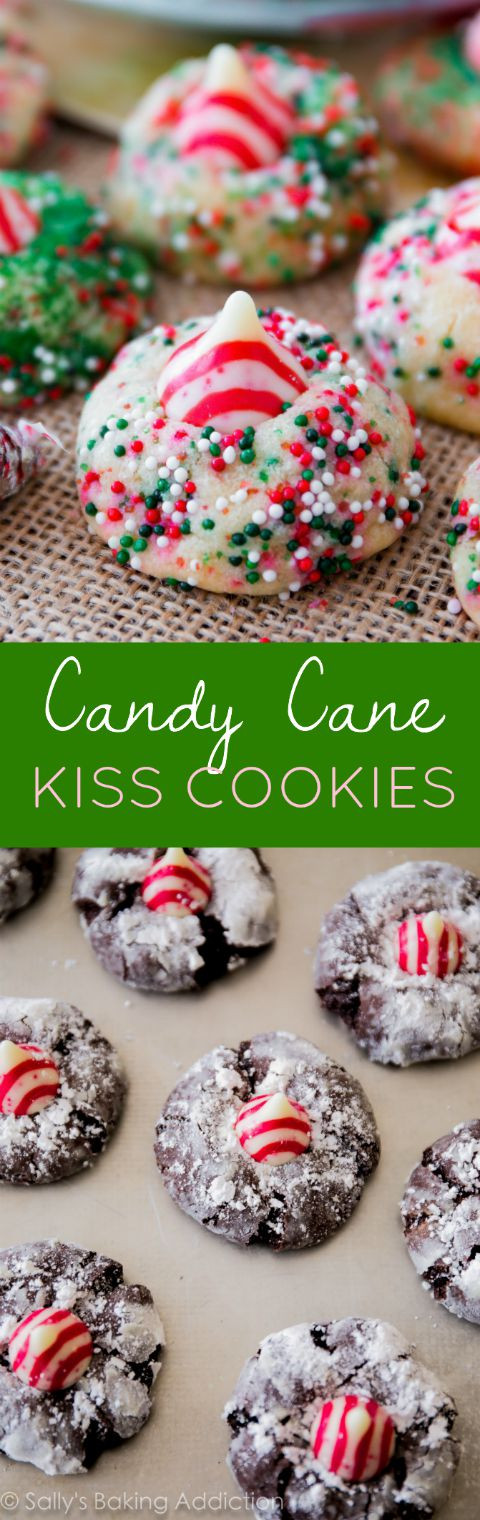 Christmas Kiss Cookies  Candy Cane Kiss Cookies Sallys Baking Addiction
