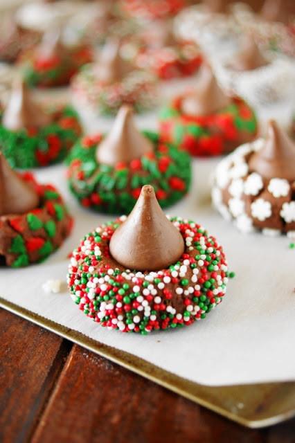 Christmas Kiss Cookies  Christmas Chocolate Kiss Cookies