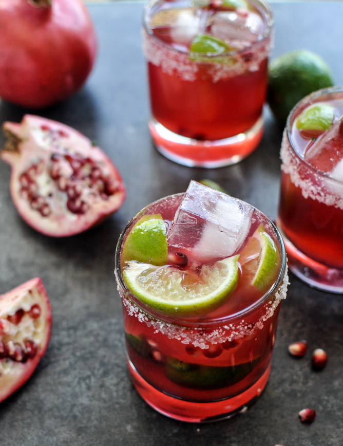 Christmas Margaritas Recipes  Pomegranate Margaritas