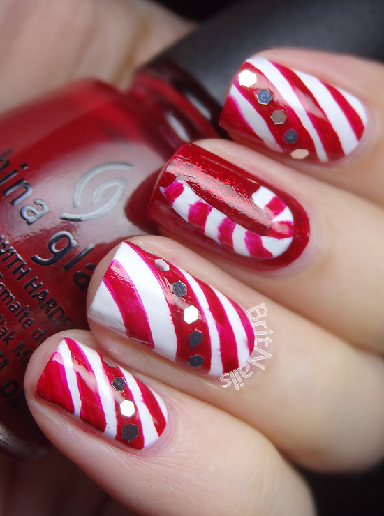 Christmas Nails Candy Cane  Candy Canes