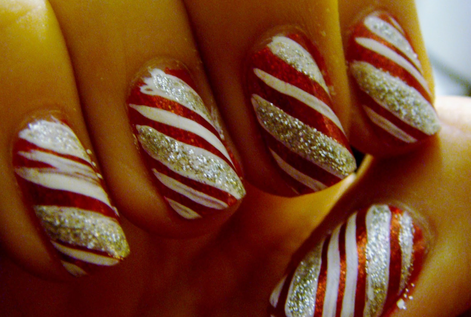 Christmas Nails Candy Cane  All Things Beauty Fashion and Hair Countdown to