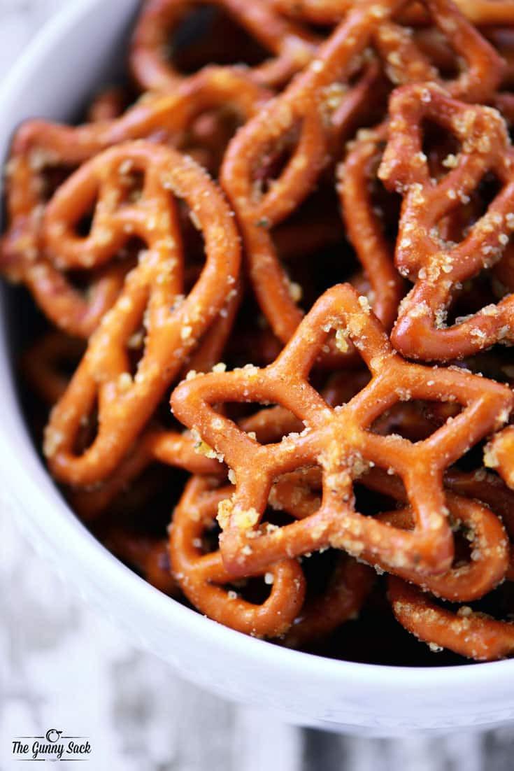 Christmas Pretzels Recipes  Christmas Crack Pretzels Recipe The Gunny Sack