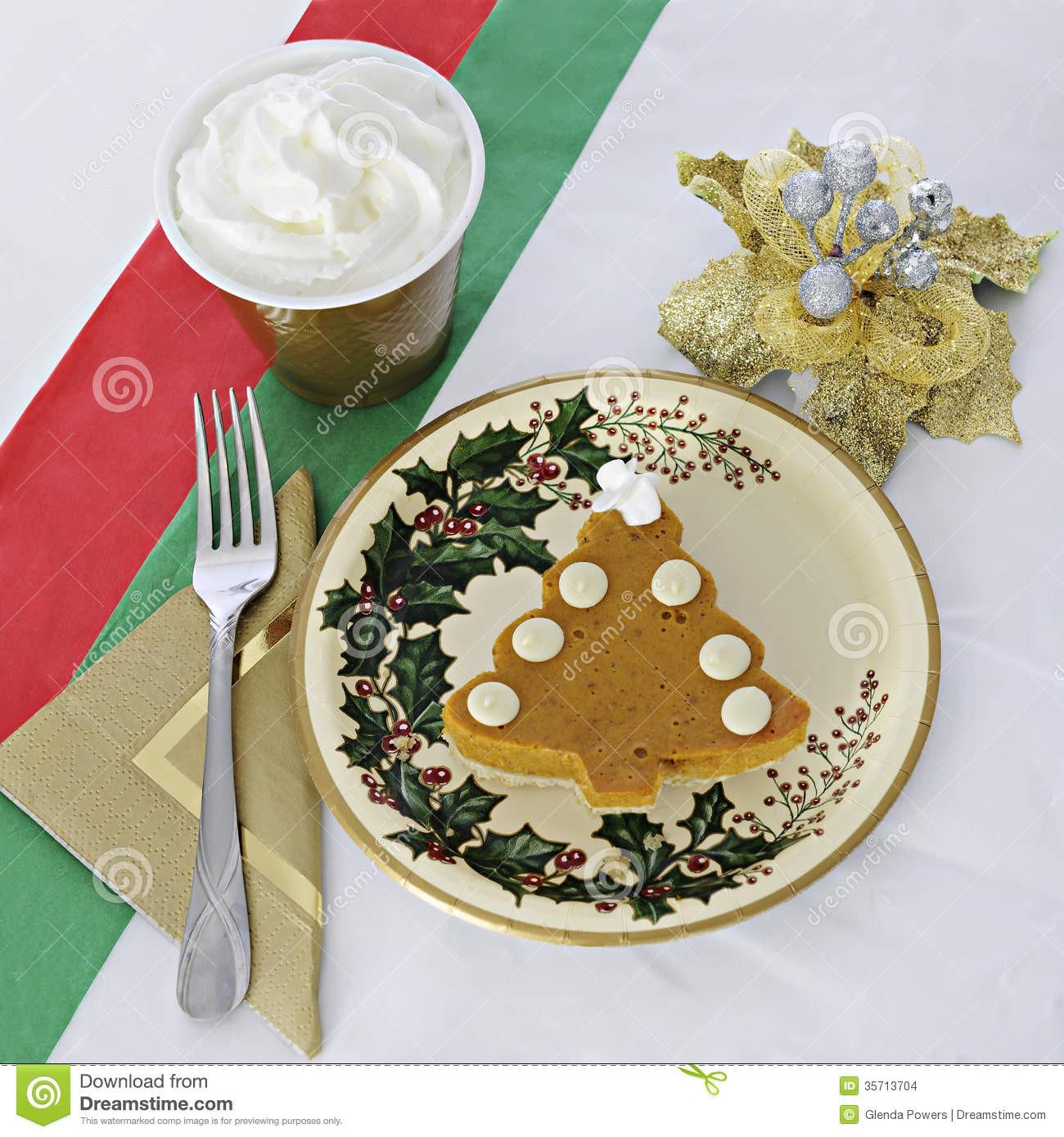 Christmas Pumpkin Pie  Christmas Pumpkin Pie Stock Image
