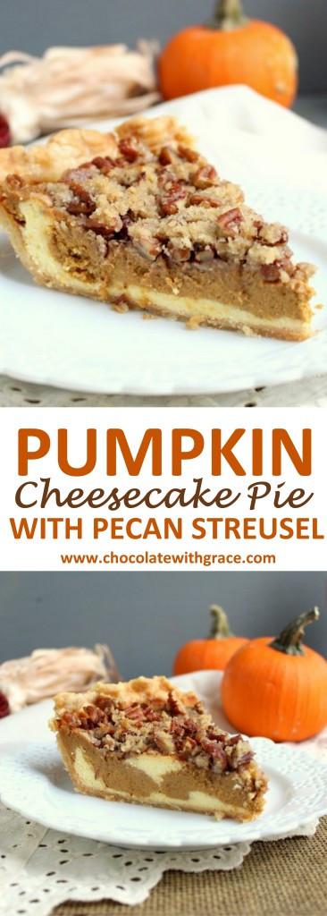 Christmas Pumpkin Pie  Pumpkin Cheesecake Pie with Streusel Chocolate With Grace