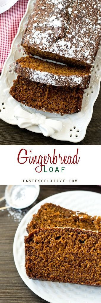 Christmas Quick Bread Recipe  Gingerbread Loaf by Tastes of Lizzy T s Soft moist
