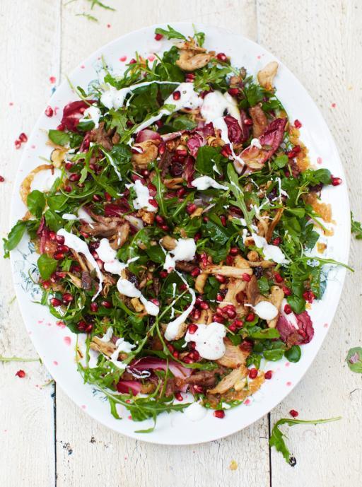 Christmas Salads Recipes Jamie Oliver  Turkey Salad & Clementine Dressing