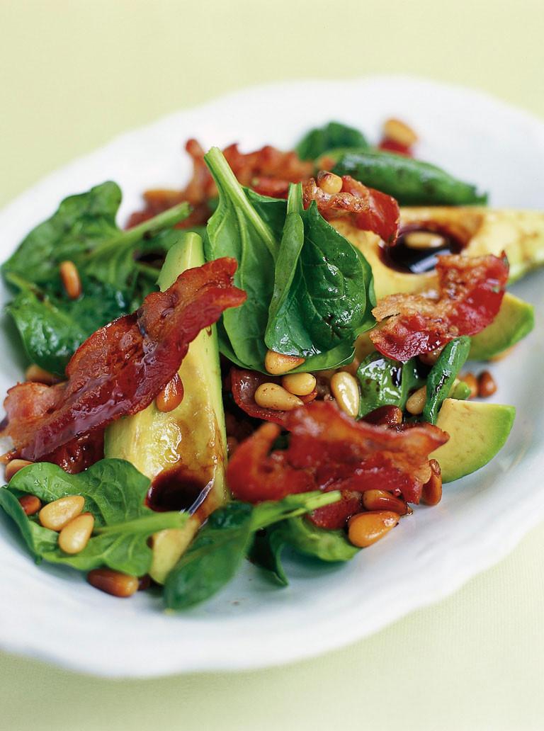 Christmas Salads Recipes Jamie Oliver  Avocado & Pancetta Salad Pork Recipes