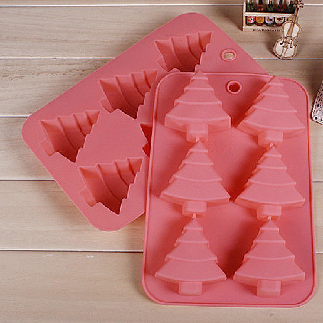 Christmas Silicone Baking Molds  Random Christmas trees Shape Silicone Cake Mold Muffin