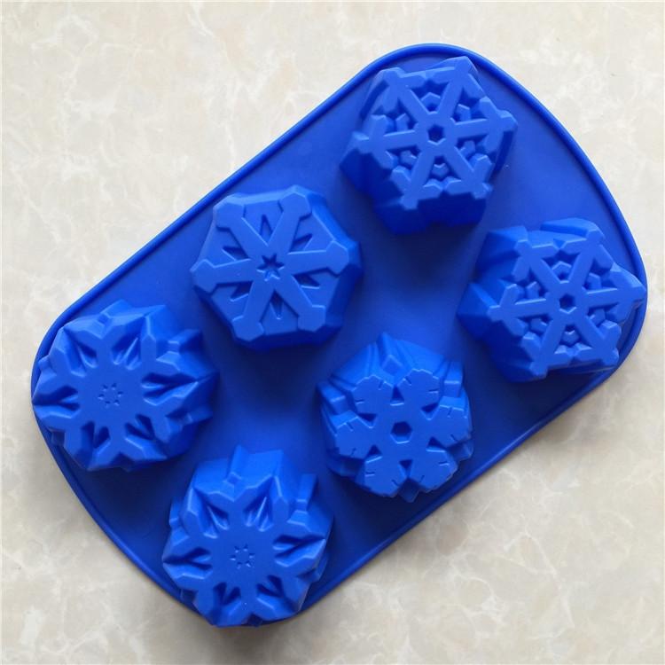 Christmas Silicone Baking Molds  6 even big snowflake silicone mold christmas snowflake