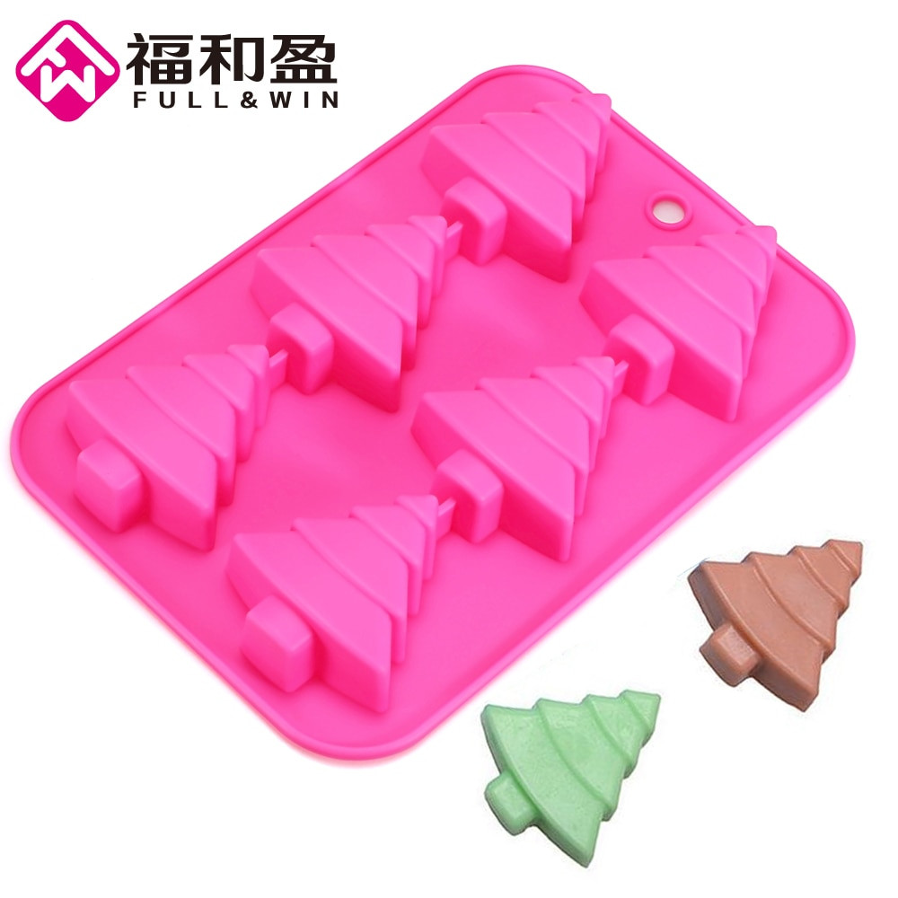 Christmas Silicone Baking Molds  Silicone Mold Christmas Tree Pine Soap Mold Baking Moulds
