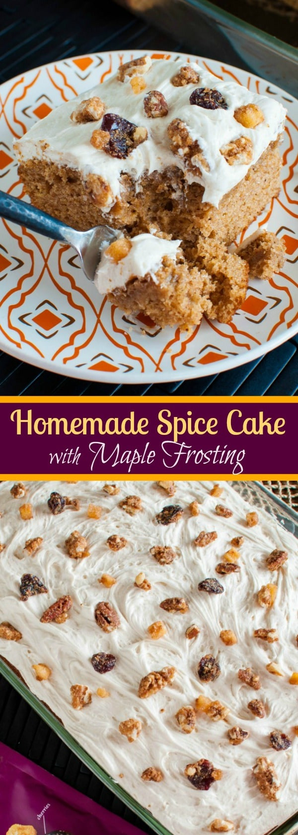 Christmas Spice Cake  Homemade Spice Cake with Maple Frosting Back for Seconds