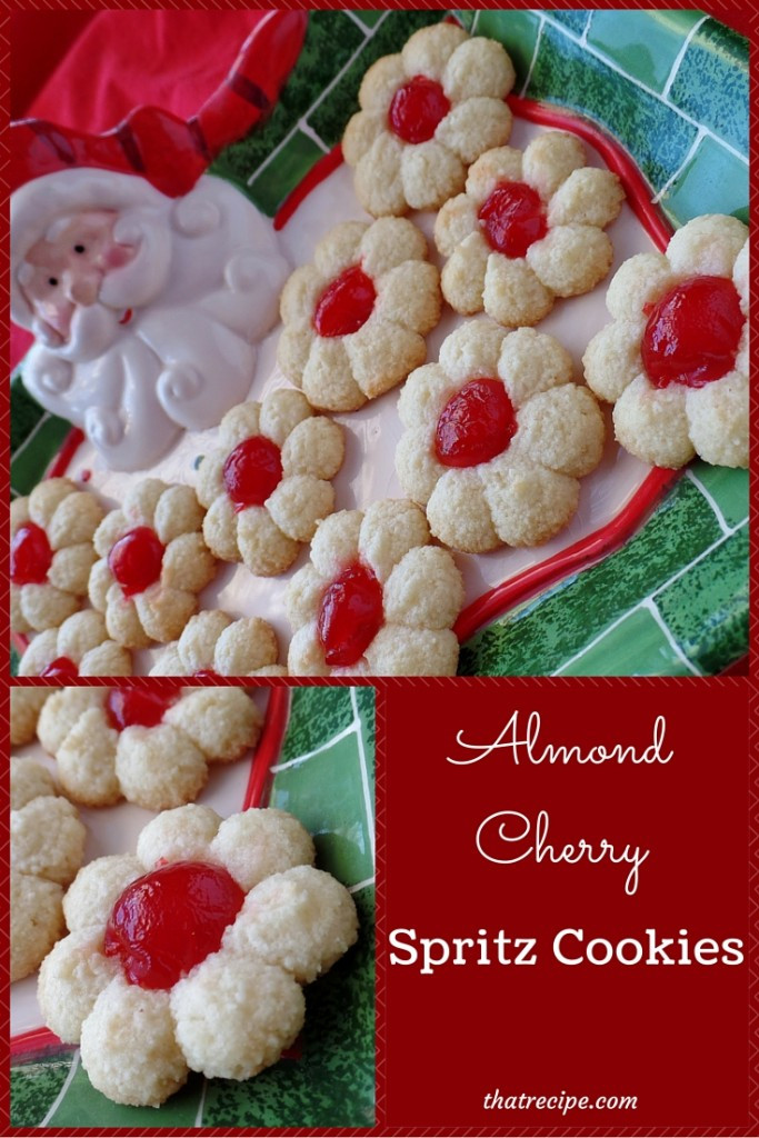 Christmas Spritz Cookies  Almond Cherry Spritz Cookies Deliciously Easy and Gluten Free